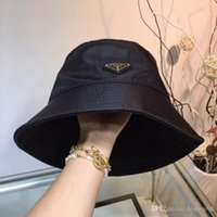 Wholesale quality street hats resale online - High quality luxury leather letter bucket hat when still folding hat black fisherman beach visor sales folding bowler hat