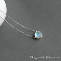 Wholesale aurora online – custom Thaya Aurora Forest Necklace Halo Crystal Gemstone S925 Silver Scale Light Pendant Necklace for Women Elegant Jewelry