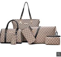 saco portátil multiuso venda por atacado-2019 moda feminina saco simples oblíqua trança mãe saco de seis peças grande saco multi-purpose ombro portátil bolsa