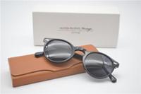 völker sonnenbrillen groihandel-Wholesale-Luxury-retro S polarisierte Sonnenbrille-Mann, der im Freien Frauen Oliver-Völker Ov5186 47mm Gregory Peck Sun Glasses With Case fährt