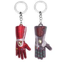 ingrosso gli anelli chiave dei vendicatori-Avengers Thanos Guanto da dito Portachiavi Creativo In lega di metallo Chiave per auto Fibbia Uomo Donna Regali Chiavi Anello Regalo per feste TTA1535