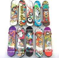 skate de 12 rodas venda por atacado-Brinquedos educativos para crianças atacado dedo novidade brinquedos cor misturada 9.5 cm plástico dedo skate
