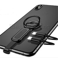 bague de réglage achat en gros de-Éclairage Double Adaptateur Anneau Titulaire Audio Chargeur Ajuster Support De Téléphone Charge Rapide Pour iPhone iOS Adaptateur OTG
