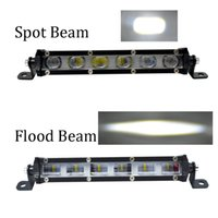 Wholesale atv led flood lights resale online - ECAHAYAKU inch w led work light bar d led fog light spot flood beam for truck offroad SUV UTV ATV car jeep