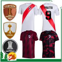 camisas de futebol personalizadas venda por atacado-2019 2020 River Plate Casa Fora Camisa De Futebol Branco 19 20 River Plate Camisa De Futebol Em Casa 2020 Personalizado Futebol Uniformes De Vendas