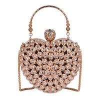 Wholesale crystal bridal hand bag for sale - Group buy Pink sugao Women Evening Clutch Bag Gorgeous Pearl Crystal Beading Bridal Wedding Party Bags CrossBody Handbags love package Hand bag