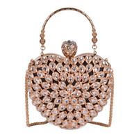 сумочки для вечеринок оптовых-Розовый sugao женщины вечер клатч великолепный жемчуг Кристалл бисером свадебные свадебные сумки партии CrossBody сумки любовь пакет ручной мешок