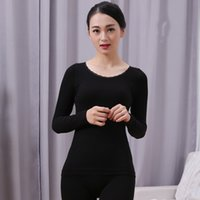 Wholesale beautiful clothing for sale - Group buy New Winter Women Solid Thin Thermal Underwear Cotton Thin Warm Clothing Set Girl Self cultivation Beautiful Body Long