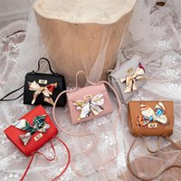 serrures d'arc achat en gros de-Sacs à bandoulière concepteur simple épaule Messenger sac rétro casual petite serrure fraîche mini sac carré sacs en PU