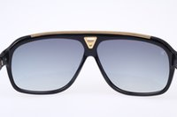Wholesale brand sunglasses dhl for sale - Group buy Brand Designer Fashion Sunglasses millionaire Z0350W Evidence Sunglasses retro vintage shiny gold summer style laser logo Top DHL