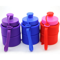 упаковочная бутылка оптовых-Сложите чайник бутылку с водой большой емкости Силикагель Waters Cup Открытый Motion Hydration Gear Творческий Больше цвета Устойчивость к падению 18mlC1