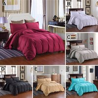 Wholesale hotel quality bedding sets for sale - 3 Piece Set Solid Duvet Cover pillowcase stripes Hotel bedding sets Twin Queen King bed set Quilt Cover High Quality Home