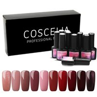 10PC lot Nail Gel 8ml Gel Polish UV Nail Polish Varnish Glitter Base And Top Semi Permanant UV Art Manicure Set