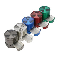 High-Quality Diameter 63MM Zinc-Alloy 5colors Tooth Drawer Window Opening Tobacco Grinder Mill Smoke Spice Crusher Maker