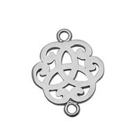 ingrosso connettori di fascino di fiori-Fascino all'ingrosso del connettore del fiore del connettore della collana dell'argento sterlina di ID34874smt17 all'ingrosso per fabbricazione del braccialetto