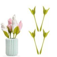 çiçek peçete tutucuları toptan satış-H1 7lc DIY Peçetelik Gül Çiçek Peçeteler Rafları Kağıt Havlu Aracı yalpalama Plakalı yemeği partisi Aksesuarları 0