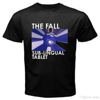 ingrosso dimensioni della tavoletta-Nuovo The Fall Band Sub Lingual Tablet Album Logo T-shirt nera da uomo taglia S-3XL