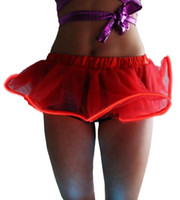 Wholesale light up clothes resale online - New Cute Fashion Lady Light Up Tutu Gogo Dancing El Wire Accessory Clothing Skirt Rave Gear EDM