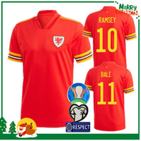 Wholesale james shirts resale online - 2020 wales soccer jersey euro cup wales home BALE JAMES RAMSEY Sports football shirt