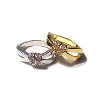 anillo de diamante torcido al por mayor-Boda del diseñador de joyas anillos Nueva Ronda de estilo anillos de diamante para las mujeres Delgado color rosa en oro toque la cuerda del anillo de apilamiento de moda para las mujeres