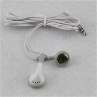 Wholesale school earbuds resale online - Salable cm lenght for mobile phone MP3 MP4 Cheapest white disposable Headphone Earbuds for bus train plane school Tourism gift