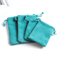 Wholesale small velvet gift bags for sale - Group buy Lake Blue Velvet Bags Small Drawstring Gift Bag Wedding Party Favor Candy Gifts Jewelry Packaging Bags