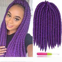 Wholesale x braiding hair for sale - Group buy Auburn Blonde Color Havana Mambo Twist Hair Extensions strands Synthetic Crochet Braiding Hair inch X TRESS Dreadlocks