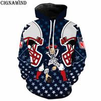 nouvelle angleterre hoodies achat en gros de-Nouveau cool Angleterre PATRIOTS ATLANTA BRONCOS hoodie imprimer 3D hommes / femmes Hoodies mode Sweatshirts hip hop sweatshirt streetwear