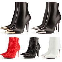 spor ayakkabıları toptan satış-Tasarımcı Ayakkabı sneaker Yani Kate Başak Stilleri Yüksek Topuklu Yarım Diz Ayak Bileği çizmeler Kırmızı Lüks Dipleri 8 10 12 14 CM moda boyutu 35-42