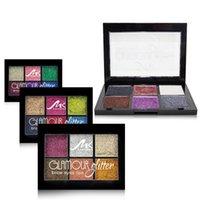 oem lidschatten großhandel-Make-up 6 Farbe Schein Lidschatten wasserdicht nicht vsmudge Perle Lidschatten Platte OEM-Set für freies Verschiffen