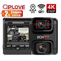 двойной автомобильный dvr wifi оптовых-QPLOVE 4K Автомобильного видеорегистратор с два 1080P движимого тиром камера беспроводной WiFi Нет свет ночного видения Sony IMX датчика с GPS Taxi Bus камерой