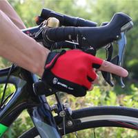 Wholesale fingerless bike gloves for sale - Group buy wheelup Men Cycling Gloves Bike Half Finger Shockproof Sport Gym Bicycle Gel Silicone Fingerless Padded Sports Adibike