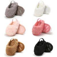 chaussons bébé nouveau-né achat en gros de-Chaussures bébé d'hiver fourrure bébé chaussures fille TROTTEUR chaussures bébé chaussures Mocassins doux coton nouveau-né Chaussons A8322