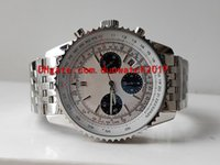 Wholesale watches navitimer for sale - Group buy 2 Colors new selling Mens Watches Best Quality Watch mm Navitimer AB0310211G1A1 Chronograph Working quartz fold stainless steel