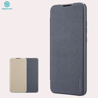 Wholesale leather case for flip key resale online - For Huawei P Smart Case NILLKIN Sparkle Flip Leather Cover for Huawei P Smart Genuine Low key Exquisite Phone Bags