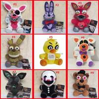 ingrosso divertenti animali farciti-9 stili Five Nights At Freddy's giocattoli peluche 15-18 cm Animali farciti bambole orsi divertenti giocattoli per bambole L265