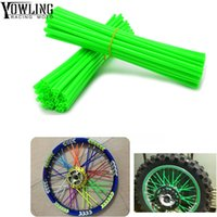 Wholesale white wheels for bike resale online - ONE Set of Sport Bicycle Motocross Dirt Bike Enduro Wheel RIM SPOKE SKINS COVERS For With the spokes of the off road motorcycle