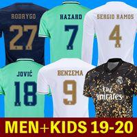 uzun kollu futbol forması erkek toptan satış-Futbol formaları gerçek Real Madrid 19 20 TEHLİKE JOVIC MILITAO camiseta de fútbol 2019 2020 kids VINICIUS JR ASENSIO futbol forması çocuklar MARCELO ISCO camisa de futebol