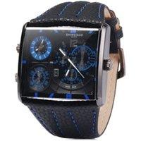 quartz movt relógios venda por atacado-Luxo Shiweibao Marca Masculina Dual Movt Relógio de Quartzo homem esporte relógios com Pulseira De Couro Relógio de Pulso Militar Moda Montre Homm