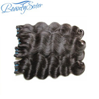 Wholesale full head brazilian virgin hair resale online - Unprocessed brazilian virgin remy human hair bundles weaves body wave pieces g natural color for full head hair from one donor