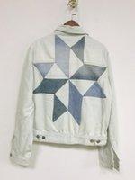 moda kadınlar kışlık montlar toptan satış-Kış Turn-down Yaka Ceket Kadınlar için Gevşek Rahat Moda Kadın Mont Kadın giyim Kadınsı Geometrik blok