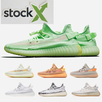 Wholesale brown summer shoe for sale - Group buy 2019 v2 v3 Kanye West True Form Hyperspace Clay Mens Women Running Shoes With Sock X Semi Frozen Yellow Sesame Sport Sneakers