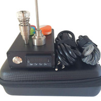 Wholesale enail electronic temperature controller box resale online - Enail D nail Dnail electronic temperature controller box with mm mm mm Coil Ti Nail for oil rig dabber glass bong