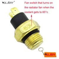 Wholesale water cooling parts for sale - Group buy XLJOY M16 ATV Radiator Thermal Cooling Fan Switch For cc Water Cooled Quad Wheeler Scooter Moped Motorcycle Parts