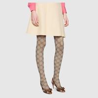 ingrosso stretto a lungo caldo-Calze da donna di marca firmate calze sexy lettera logo Calze da donna di moda lunghe calze a ginocchio autunno gamba calda