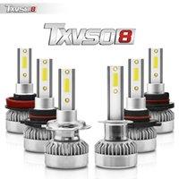 Wholesale h4 h1 bulb conversion resale online - 2PCS TXVS08 G1 H4 H L Car Headlamp LED Bulb Conversion Kit H1 H4 H7 HB3 HB4 H8 H9 H11 W K White V V COB LED
