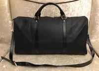 2019 men duffle bag women travel bags hand luggage travel bag men pu leather handbags large cross body bag totes 55cm