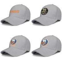 camuflaje azul sol sombreros al por mayor-New York Islanders blue ice hockey Gorra de béisbol ajustable para mujer para hombre Sombreros para el sol logotipo principal Serie naranja de camuflaje Coco