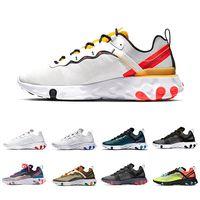 sapatos de corrida de laranja venda por atacado-Nike Epic React 87 shoes Total Laranja Real Tint Reagir Elemento 87 Tênis De Corrida Das Mulheres 87 s Desert Sand Blue Chill Vela Homens Névoa Verde Formador Volt Sports Sneakers
