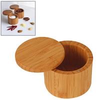 Wooden Seasoning Pot Bamboo Spice Shaker Sugar Salt Pepper Herbs Storage Bottle Spice Jar For Kitchen